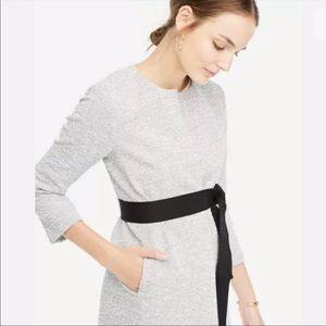 Ann Taylor Tweed Belted Collarless Jacket 6